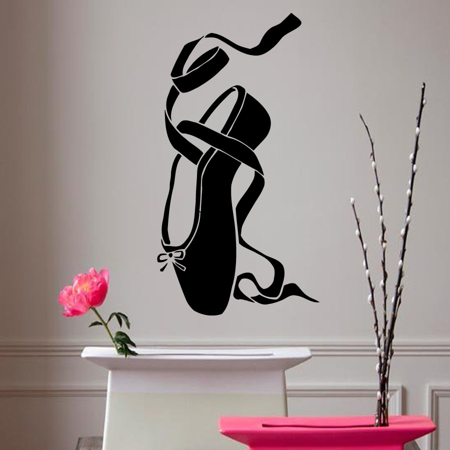 Online buy wholesale dance rooms from china dance rooms for Ballerina wall mural