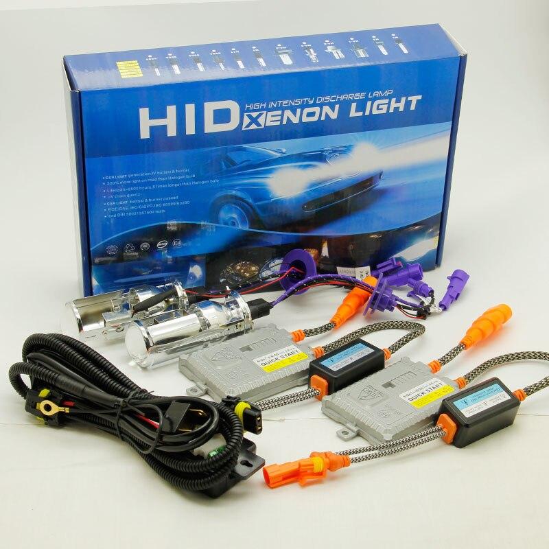 Rapide lumineux H4 Mini projecteur lentille salut/lo faisceau voiture HID phare 55 W 8000LM 6000 K 12 V