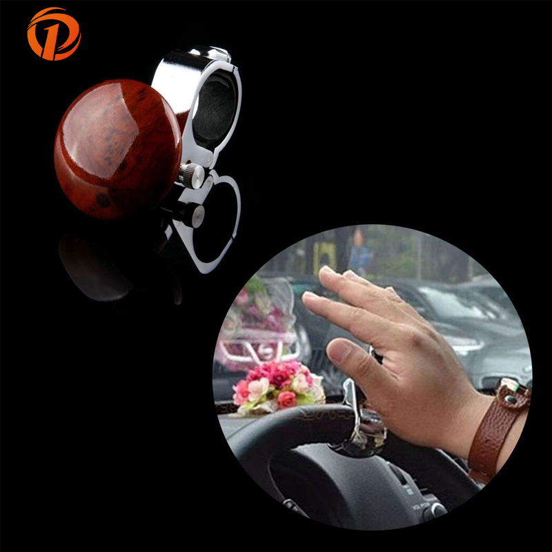 POSSBAY Universal Auto Car Grip Knob Turning Hand Ball Car Truck Steering Wheel Power Ball Handle Imitation Carbon Car Styling