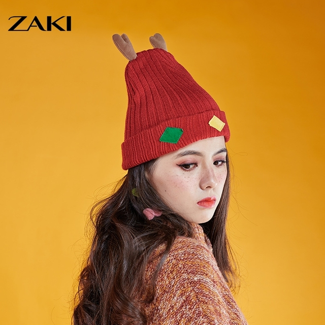 2016 Winter new high-quality knitted deer hat fashion creative hat fun Christmas hat ski cap cute warm Christmas gifts 6 styles