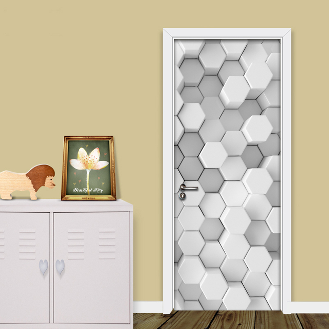 Modern Simple Art 3D Mosaic Geometric Lattice Wallpaper Living Room ...