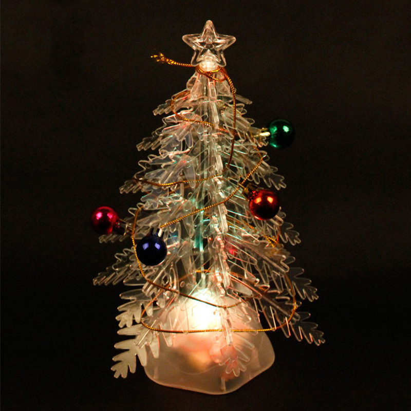 With Music Glowing Christmas Tree DIY Assemble PVC Christmas Trees Xmas  Decorative Pendants Nice Christmas Gift For Kids 17*27cm-in Trees from Home  & Garden ...