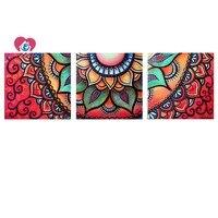 Diamond embroidery triptych Mandala picture Diamond mosaic Decorative canvas pictures 3d diamond painting full squar rhinestones