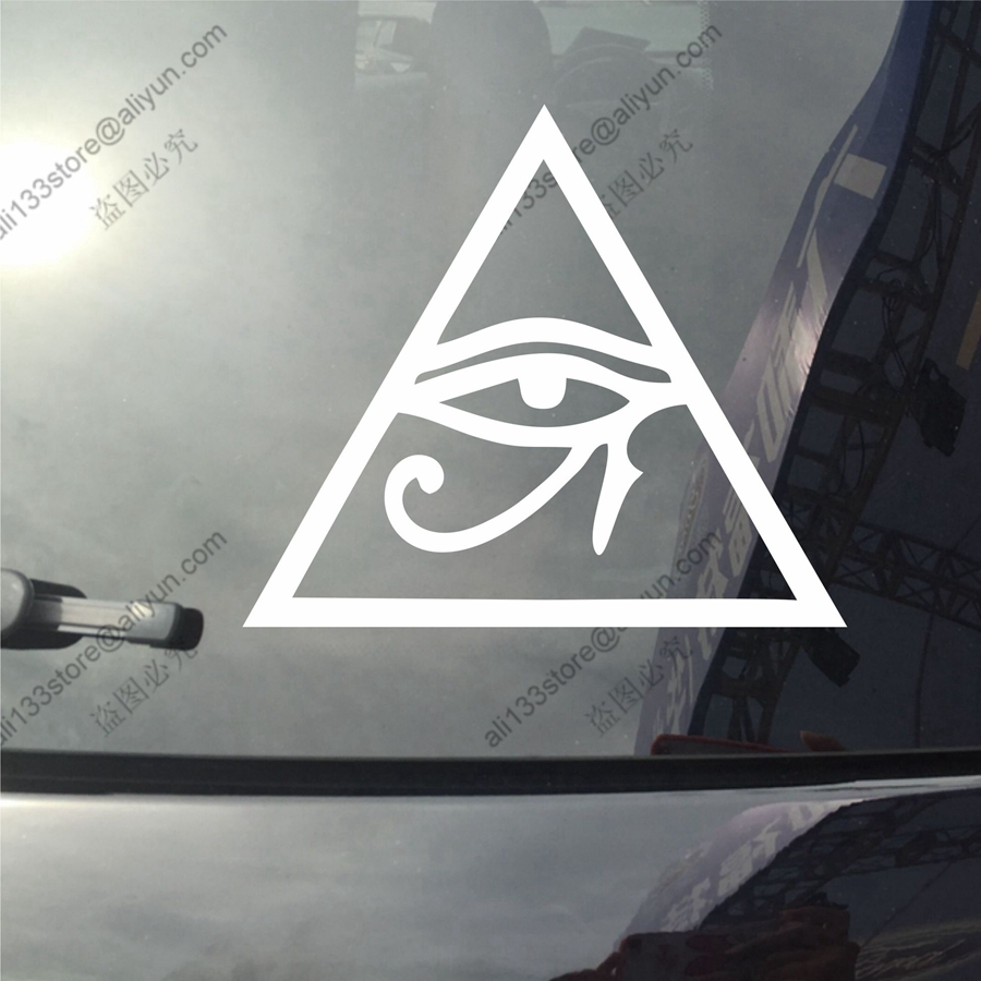 Eye of ra re horse egyptian god pagan symbol car decal sticker eye of ra re horse egyptian god pagan symbol car decal sticker vinyl truck boat die cut no background pick color and size style3 in car stickers from biocorpaavc