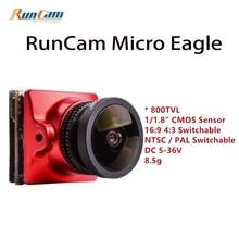 2018 Новый runcam 800TVL Micro Орел FPV-системы Камера CMOS Сенсор 16:9/4:3 NTSC/PAL переключаемый для WDR FPV-системы quadcopter Racing Drone