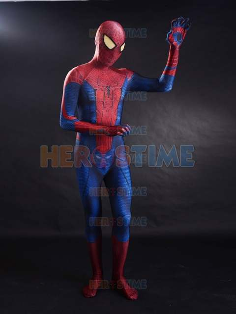 Us 62 91 10 Off The Amazing Spider Man Cosplay Costume 3d Printed Movie Halloween Spandex Zentai Tasm Spiderman Full Bodysuit Spidey Suit In Movie