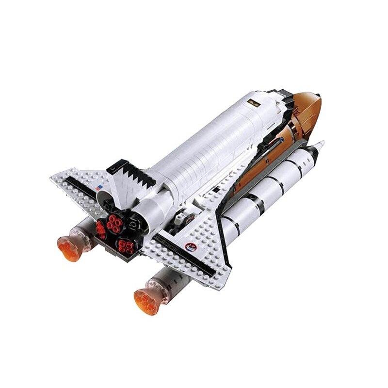 Compatible Legoe 10231 Model 16014 1230pcs Space Shuttle Expedition Model building blocks Figure bricks toys for children 0367 sluban 678pcs city series international airport model building blocks enlighten figure toys for children compatible legoe