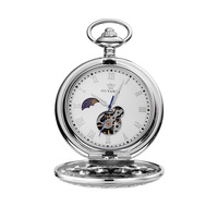 OUYAWEI Pocket Watch Men Mechanical Hand Wind Pocket watches for men colar masculinn vintage pocket fob watches reloj de bolsill
