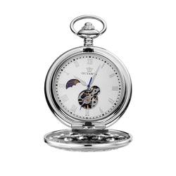 OUYAWEI Taschenuhr Männer Mechanische Handaufzug taschenuhren für männer colar masculinn vintage taschenuhr fob uhren reloj de bolsill