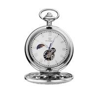 OUYAWEI Pocket Watch Men Mechanical Hand Wind Pocket watches for men colar masculinn vintage pocket fob watches reloj de bolsill