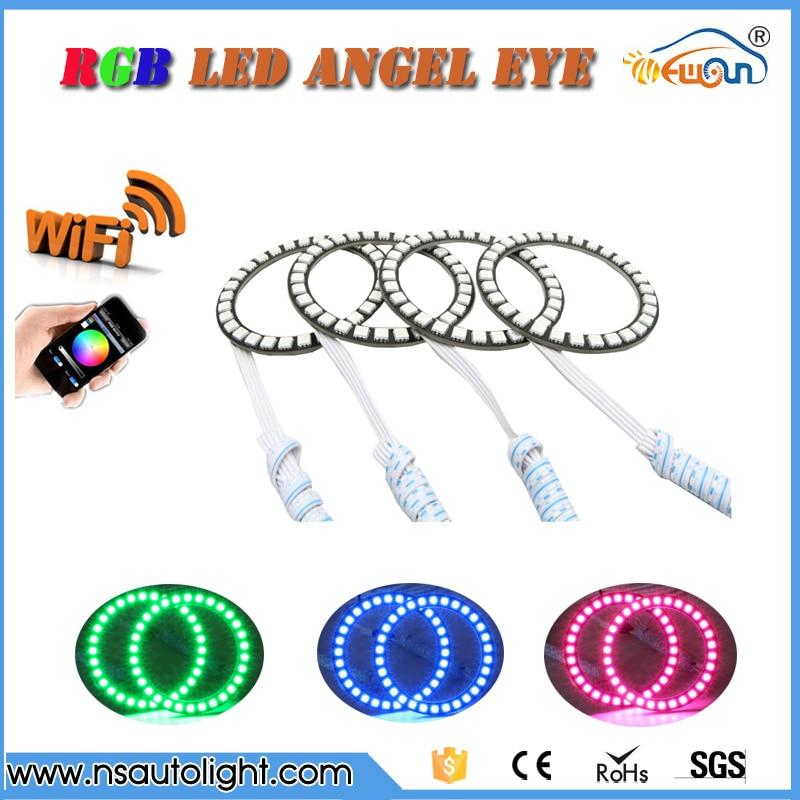 SMD5050 Led Angel Eyes Universal Ring Color Change rgb led halo rings  120mm 125mm 140mm 72mm 75mm 80mm 90mm 100mm 105mm 115mm
