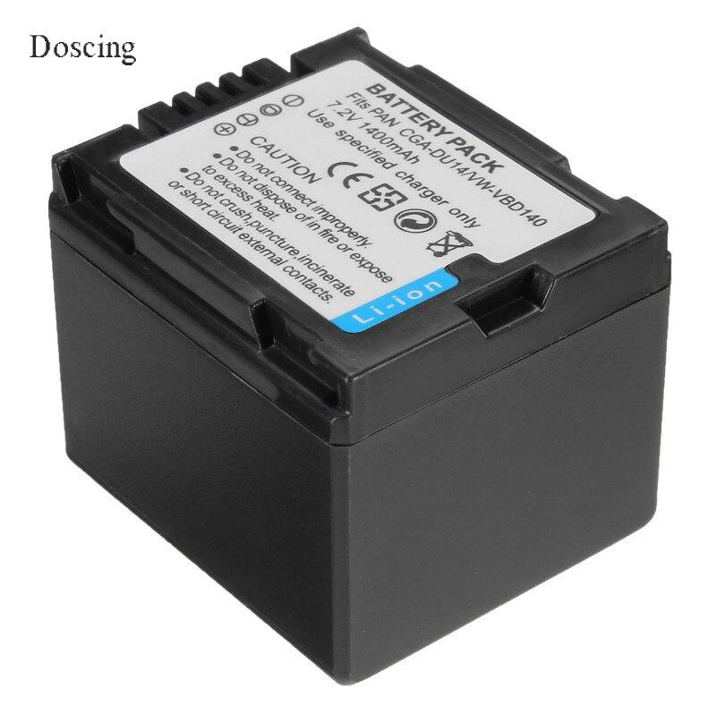 1.4Ah CGA-DU14/VW-VBD140 Caméra Batterie Pour Panasonic DU06 DU07 NV-GS10 CGA-DU12 H258 GS28 GS328 GS320 GS188 GS180 GS1 GS50020