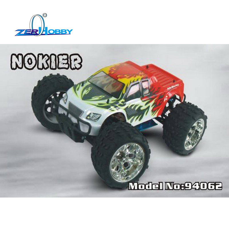 HSP RACING NOKIER 94062 MONSTER TRUCK 1/8 SCALE ELECTRIC POWERED 4WD OFF ROAD REMOTE CONTROL RC CAR 80A ESC KV3500 MOTOR hsp 94180 1 10th scale rc car 4wd electric powered off road rc crawler 2 4g climbing truck car p3