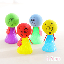 iWish 65mm H Jumping Dolls Kids Bouncing Spring Stress Relief Toys Education Game Push N Down Jump Man for Children Christmas iwish halloween wind up green ghost goblin zombies jump vampire winding walking frankenstein jumping kids toys all saints day