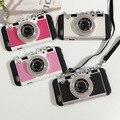 Saco da Câmera de moda 3D Caso Do Tumblr com Alça Para o iphone 6 6 s 6 Mais 6 s Plus Tampa Traseira Móvel Caso de Telefone 3d