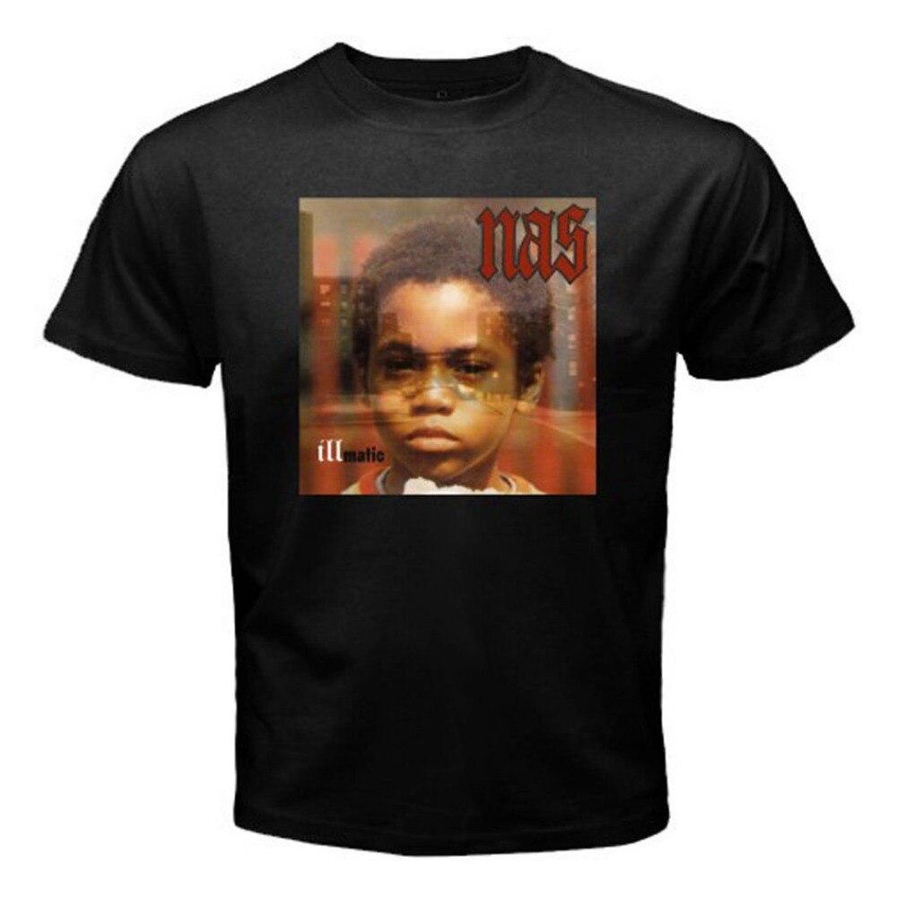 Nas Illmatic Album Cover Tee Cotton Tshirt New Men's T-Shirt Black Size S to 3XL 100% Cotton Top Tees