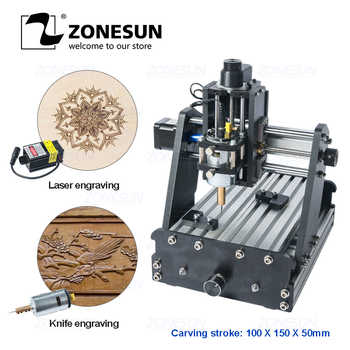 ZONESUN 3axis Mini Diy Cnc Engraving Machine PCB Milling Engraving Machine Wood Carving Machine Cnc Router Cnc Control Leather - DISCOUNT ITEM  10 OFF Tools