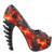 LF80637 Punk Espárragos Negro Llama Roja zapato de Salon Plataforma Abierta ¡ Hueso Tamaño 4/5/6/7/8/9/10