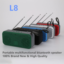 L8 portable subwoofer speaker outdoor sports Bluetooth speaker support USB TF card FM radio AUX input qcy value package qq800 mini portable bluetooth speaker support tf card usb aux and qy11 sports wireless earphones headphones%2