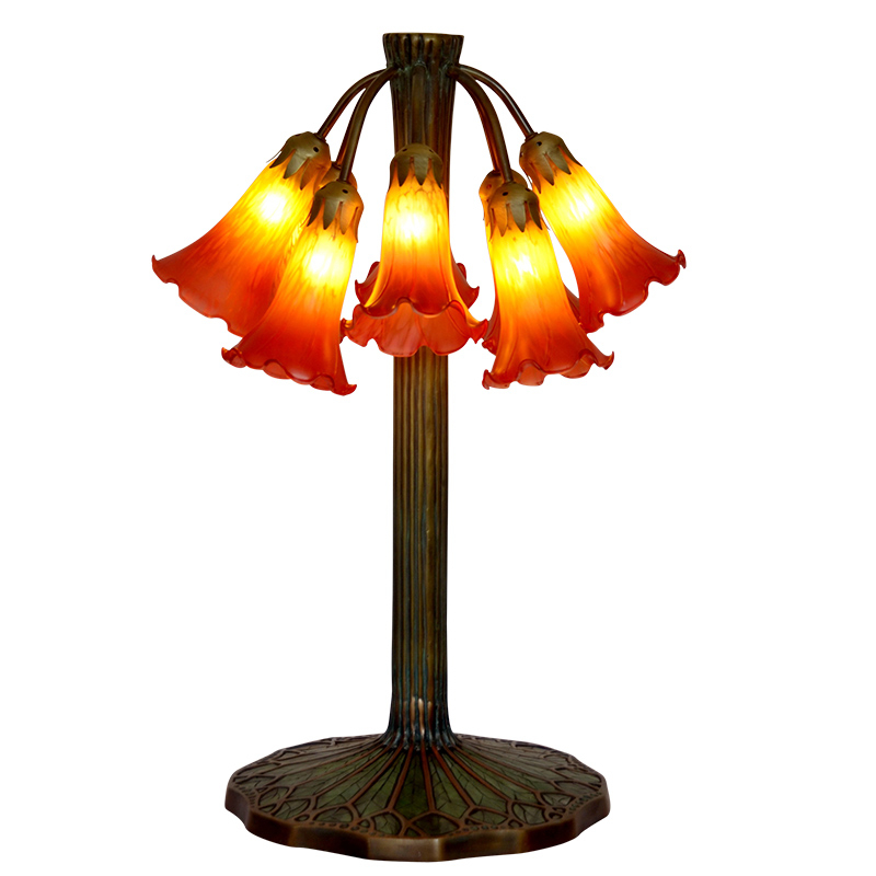 FUMAT Art Kaca Lampu Meja Lampu Berkualitas Tinggi Tembaga Murni Kaca - Pencahayaan dalam ruangan - Foto 3