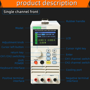 Image 2 - Professional programmable dc electrical load Digital Control DC Load Electronic Battery Tester Load 150V 40A 400W load ET5410
