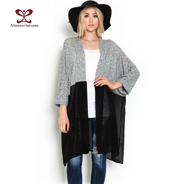 2017 Spring Women Kimono Cardigan Knitted Chiffon Blouse Shirt Female Long Casual Chiffon Cardigans Kimonos Plus Size XS-3XL 440