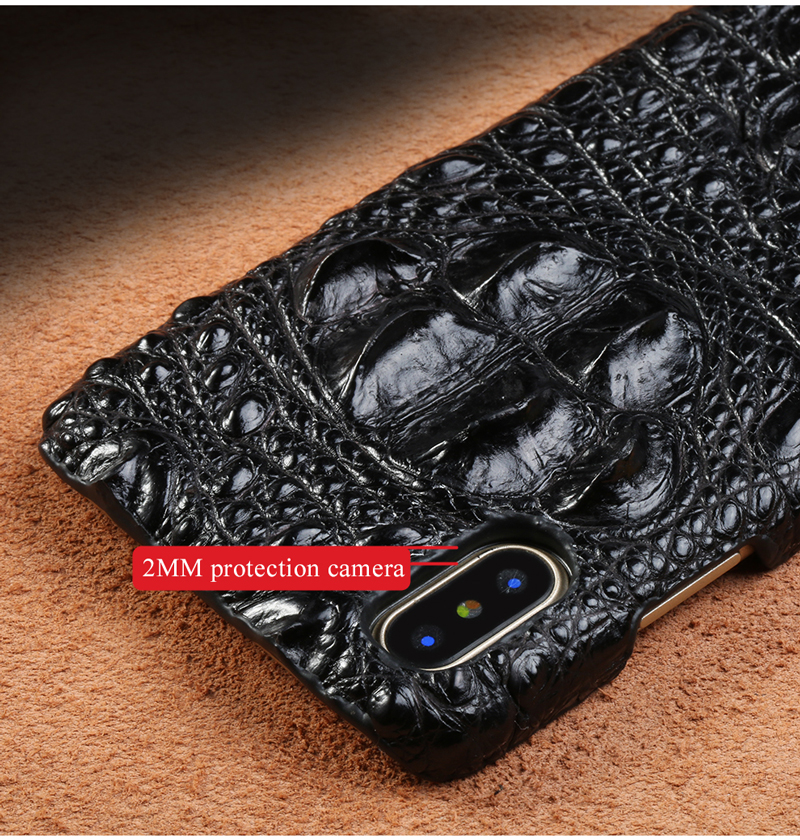 100 Genuine Crocodile Leather Case For iphone X XR XS Max Cover for iPhone XS XS Max 7 8 6 5 Plus 6S Phone Cases Luxury 2019 in Half wrapped Cases from Cellphones Telecommunications