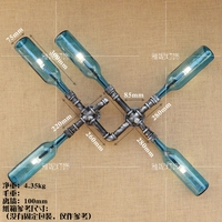 water pipes bottles 5heads wall lamps Loft industrial wind led wall lights bars restaurants aisles creative restaurants lamps