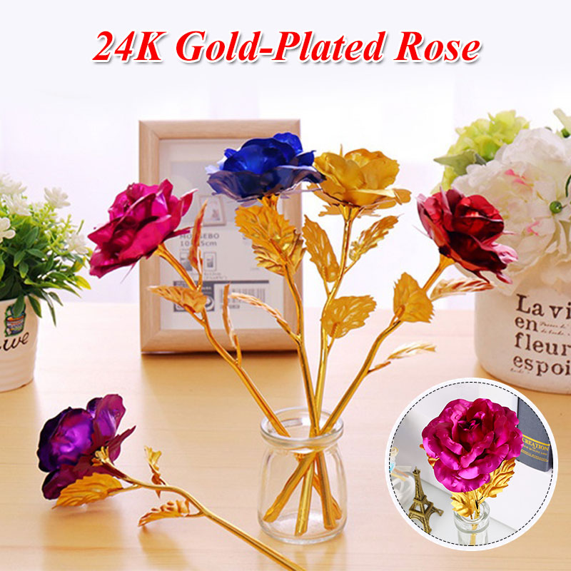 Simple 24K Gold Rose