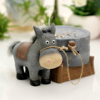 Creative Home Decor Animal Resin Ashtray Little Donkey Pull The Car Practical Boy Gift Smoking Accessories Storage Ash Tray