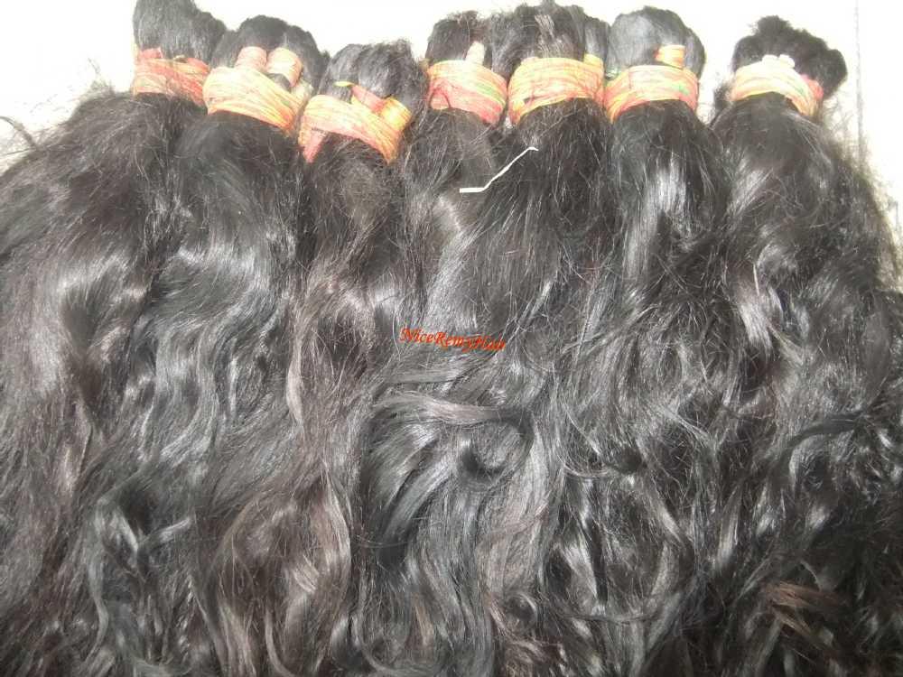 Unprocess Human Burmese Virgin Braid Hair Bulk Natural Color Cuticle
