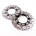 Front Brake Disc Rotors Set For YAMAHA YZF R1 2007-2014 & 2005-2014 YZF R6 Black