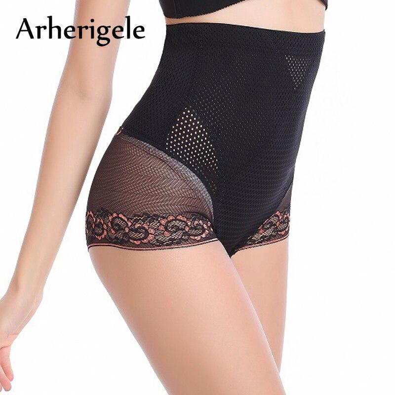 Buy Arherigele Sexy Lace Panties Women Underwear High Waist Body Shaper Panties Knickers Seamless Lingerie Underpants Calcinha