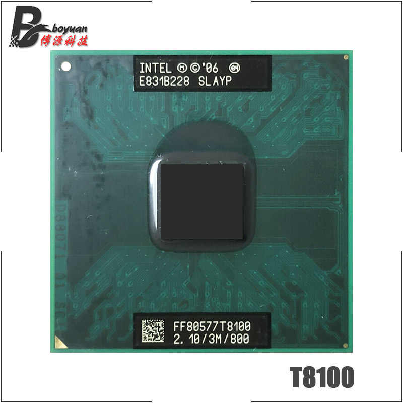 Intel Core 2 Duo T8100 SLAUU SLAYZ 2.1 GHz Dual-Core Dual-Thread di CPU Processore 3M 35W Socket P