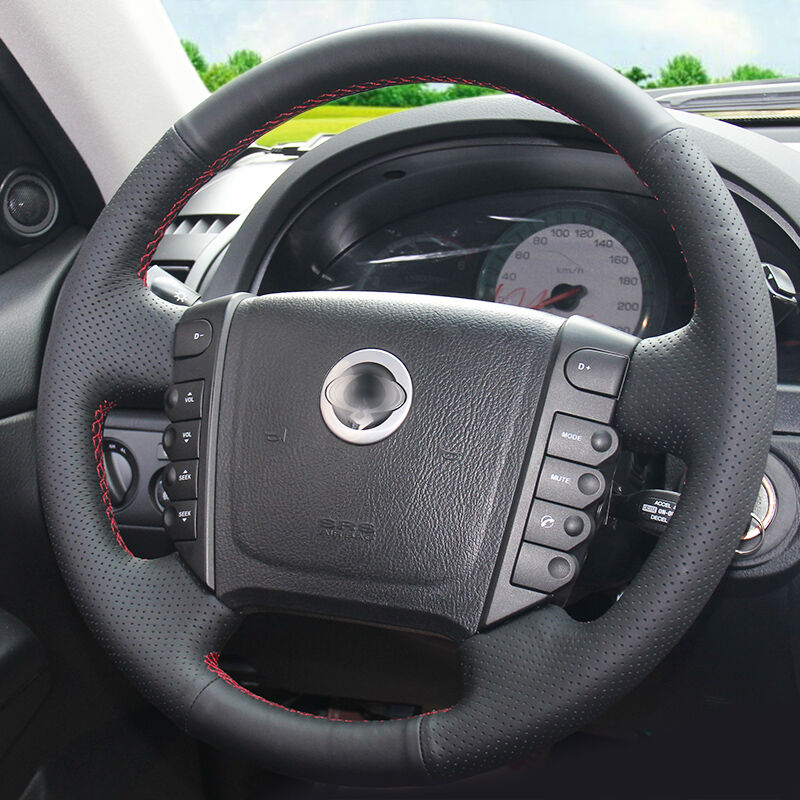 Braid on the Steering Wheel Cover for Ssangyong Rexton Rexton W Rodius capa para volante Steering