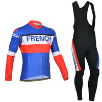 Bandeira conjunto de ciclismo 2019 francês ciclismo jerseys conjunto dos homens roupas ciclismo bandeira nacional manga longa roupas bicicleta ropa ciclismo|Kits ciclismo| |  -