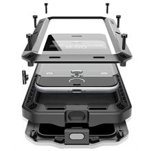 Роскошные doom Панцири жизнь шок dropproof противоударный металлический Алюминий + силиконовый чехол для iPhone 7 6 S 6 S плюс Защитная крышка