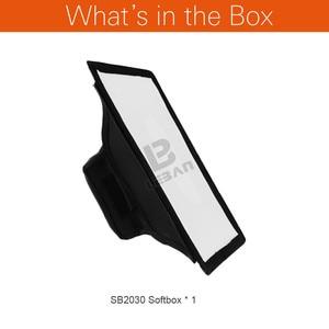 Image 2 - Godox 20cm x 30cm universel pliable Mini Flash diffuseur Softbox pour Godox, Canon, Nikon Flash