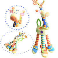 New Infant Toy Rattles Ultra Long 46cm Hanging Giraffe Baby Toys Stuffed Animals Plush Rattle Bed