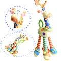 Novo brinquedo infantil chocalhos ultra longa (46 cm) de suspensão do bebê girafa brinquedos de pelúcia animais de pelúcia pelúcia sinos chocalho cama brinquedos