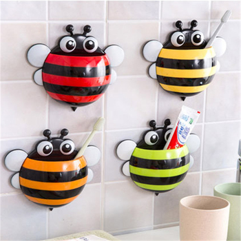 Ladybug bee Sucker Children Kids Toothbrush Holder Suction Hooks Toothbrush Wall Suction Bathroom Sets