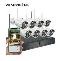 720 P CCTV Камера Системы Wi-Fi nvr комплект Открытый Водонепроницаемый видеонаблюдения Системы 8CH DVR Беспроводной безопасности Камера Системы ИК ...