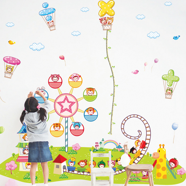 Classroom Decoration Wallpaper ~ Large cartoon height wall decoration stickers nursery