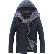 2015 Новый Парки мужская Зимняя Куртка Толщиной Проложенный Среднего Возраста Куртка Homme Роскошный Куртка С Капюшоном Мужской Весте Homme Марка Роскошные