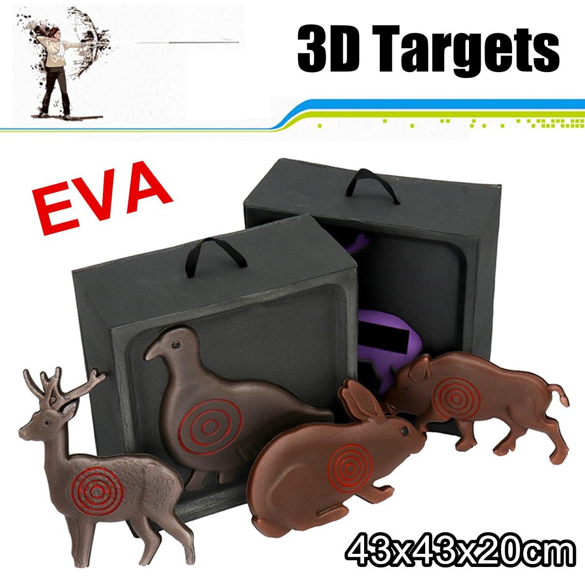 3D Animal réutilisable tir à l'arc EVA cible chasse tir flèches composé arc classique chasse cibles accessoires de formation en intérieur