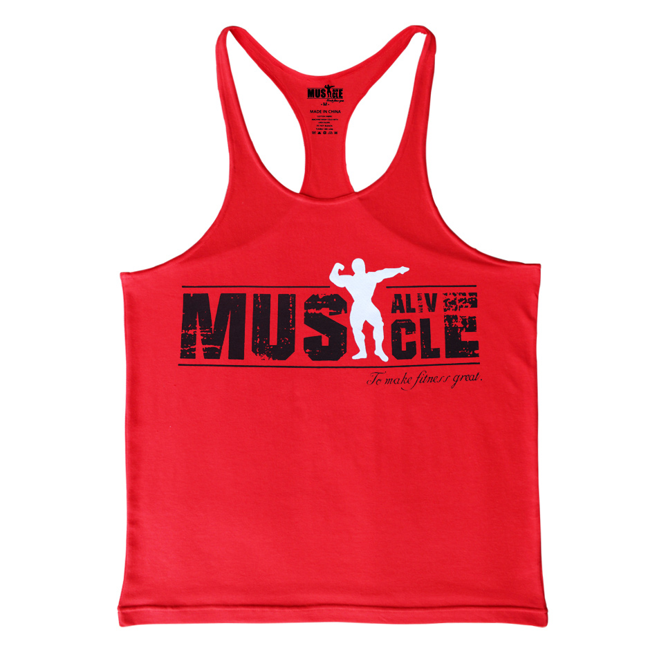 Bodybuilding Tank Top Heren Gyms-kleding Stringer Fitness Gyms Shirt - Herenkleding - Foto 2