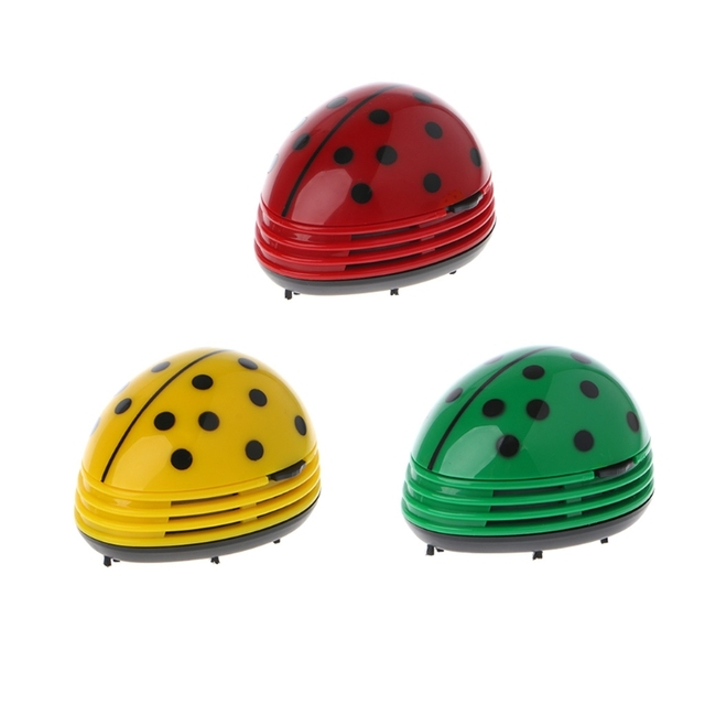 Mini Ladybug Desktop Coffee Table Vacuum Cleaner Dust Collector For Home  Office W30
