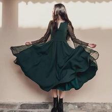 Mori Girl Voile Layer Lolita Maxi Pleated Silk Dress 2017  Retro literary style unique Vestido Oncinha Mori dress Clothing w396