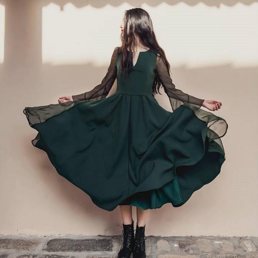 Mori Girl Voile Layer Lolita Maxi Pleated Silk Dress 2018 Retro literary style unique Vestido Oncinha Mori dress Clothing w396