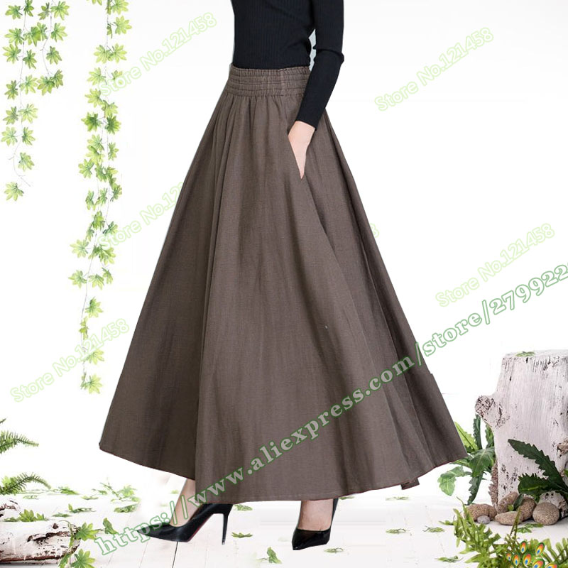 Plus Big Size 5XL XXXXL 6XL Spring Autumn Casual Vintage Retro Cotton Linen Woman Maxi Long